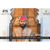 S H A H I T A J Traditional Rajasthani Cotton Mewadi Pagdi or Turban Multi-Colored for Kids and Adults (MT91)