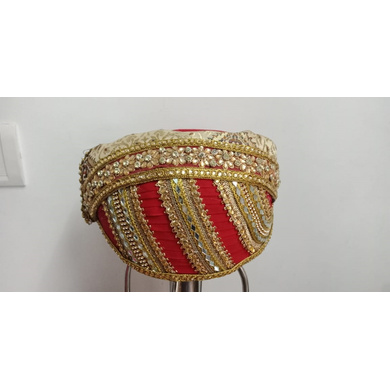 S H A H I T A J Traditional Rajasthani Cotton Mewadi Pagdi or Turban Multi-Colored for Kids and Adults (MT91)-18-3