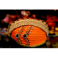 S H A H I T A J Traditional Rajasthani Cotton Mewadi Pagdi or Turban Multi-Colored for Kids and Adults (MT95)