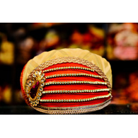 S H A H I T A J Traditional Rajasthani Cotton Mewadi Pagdi or Turban Multi-Colored for Kids and Adults (MT96)
