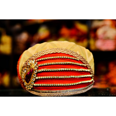 S H A H I T A J Traditional Rajasthani Cotton Mewadi Pagdi or Turban Multi-Colored for Kids and Adults (MT96)-ST174_23andHalf