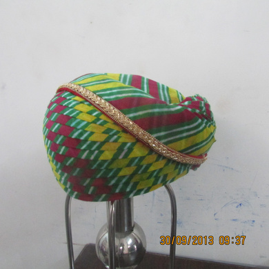 S H A H I T A J Traditional Rajasthani Cotton Mewadi Pagdi or Turban Multi-Colored for Kids and Adults (MT102)-18-4