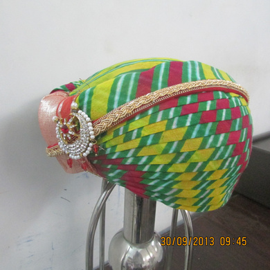 S H A H I T A J Traditional Rajasthani Cotton Mewadi Pagdi or Turban Multi-Colored for Kids and Adults (MT102)-18-3