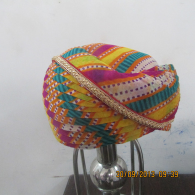 S H A H I T A J Traditional Rajasthani Cotton Mewadi Mothda Pagdi or Turban Multi-Colored for Kids and Adults (MT103)-18-4