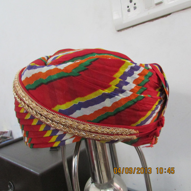 S H A H I T A J Traditional Rajasthani Cotton Mewadi Pagdi or Turban Multi-Colored for Kids and Adults (MT109)-18-4