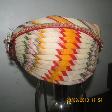 S H A H I T A J Traditional Rajasthani Cotton Mewadi Pagdi or Turban Multi-Colored for Kids and Adults (MT110)-ST188_20