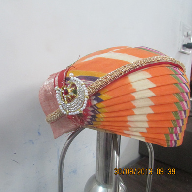 S H A H I T A J Traditional Rajasthani Cotton Mewadi Pagdi or Turban Multi-Colored for Kids and Adults (MT111)-18-3