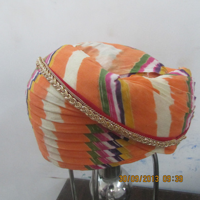 S H A H I T A J Traditional Rajasthani Cotton Mewadi Pagdi or Turban Multi-Colored for Kids and Adults (MT111)-18-4
