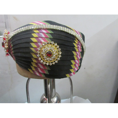 S H A H I T A J Traditional Rajasthani Cotton Mewadi Pagdi or Turban Multi-Colored for Kids and Adults (MT112)-ST190_22