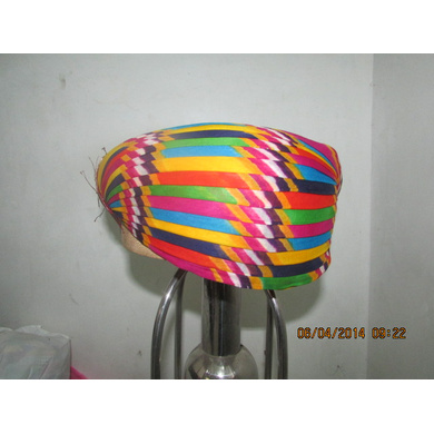 S H A H I T A J Traditional Rajasthani Cotton Mewadi Pagdi or Turban Multi-Colored for Kids and Adults (MT113)-ST191_20