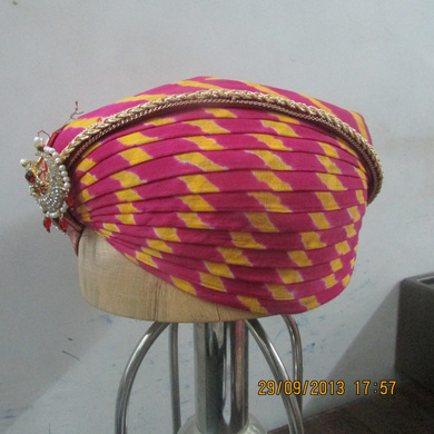 S H A H I T A J Traditional Rajasthani Cotton Mewadi Pagdi or Turban Multi-Colored for Kids and Adults (MT114)-ST192_23