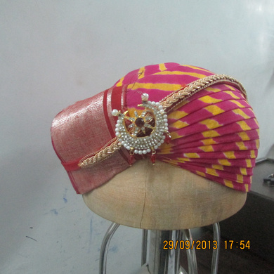 S H A H I T A J Traditional Rajasthani Cotton Mewadi Pagdi or Turban Multi-Colored for Kids and Adults (MT114)-18-3