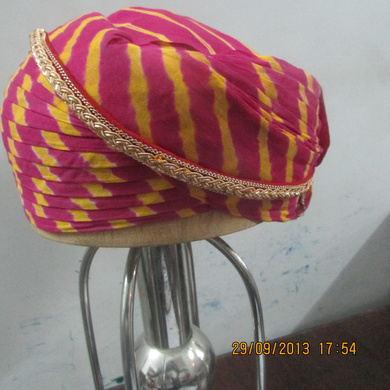 S H A H I T A J Traditional Rajasthani Cotton Mewadi Pagdi or Turban Multi-Colored for Kids and Adults (MT114)-18-4