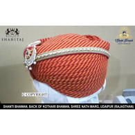 S H A H I T A J Traditional Rajasthani Cotton Mewadi Pagdi or Turban Multi-Colored for Kids and Adults (MT115)