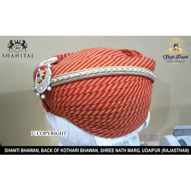 S H A H I T A J Traditional Rajasthani Cotton Mewadi Pagdi or Turban Multi-Colored for Kids and Adults (MT115)-ST193_19andHalf