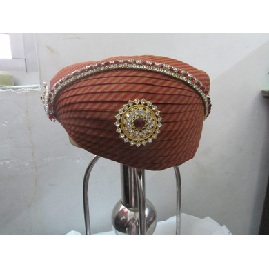 S H A H I T A J Traditional Rajasthani Cotton Mewadi Pagdi or Turban Multi-Colored for Kids and Adults (MT117)-ST195_20andHalf