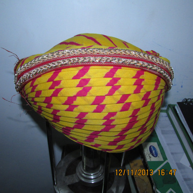 S H A H I T A J Traditional Rajasthani Cotton Mewadi Pagdi or Turban Multi-Colored for Kids and Adults (MT118)-18-3