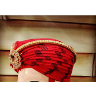 S H A H I T A J Traditional Rajasthani Cotton Mewadi Pagdi or Turban Multi-Colored for Kids and Adults (MT122)