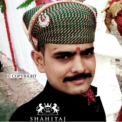 S H A H I T A J Traditional Rajasthani Cotton Mewadi Pagdi or Turban Multi-Colored for Kids and Adults (MT124)-ST202_23