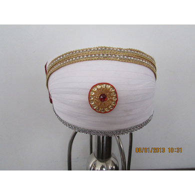 S H A H I T A J Traditional Rajasthani Cotton Mewadi Bohra Pagdi or Turban Multi-Colored for Kids and Adults (MT126)-ST204_18andHalf