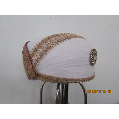 S H A H I T A J Traditional Rajasthani Cotton Mewadi Bohra Pagdi or Turban Multi-Colored for Kids and Adults (MT127)-18-3