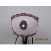 S H A H I T A J Traditional Rajasthani Cotton Mewadi Bohra Pagdi or Turban Multi-Colored for Kids and Adults (MT128)