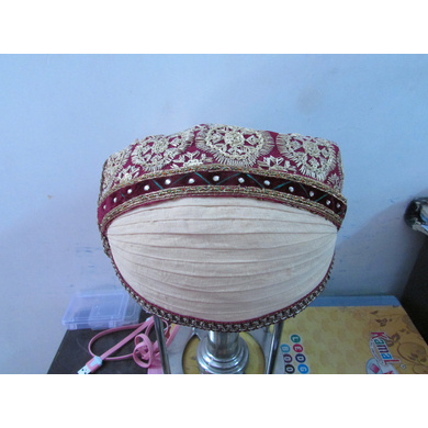 S H A H I T A J Traditional Rajasthani Cotton Mewadi Bohra Pagdi or Turban Multi-Colored for Kids and Adults (MT130)-ST208_18andHalf