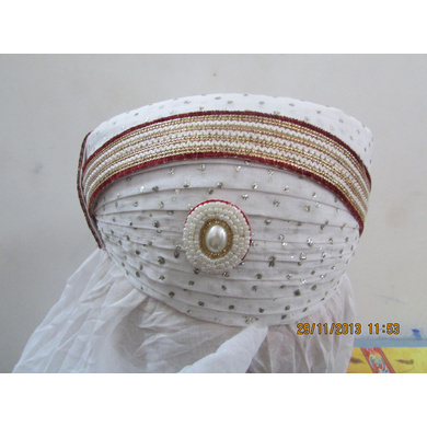 S H A H I T A J Traditional Rajasthani Cotton Mewadi Bohra Pagdi or Turban Multi-Colored for Kids and Adults (MT131)-ST209_18andHalf