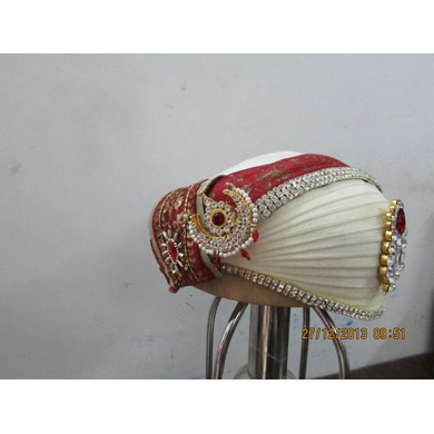 S H A H I T A J Traditional Rajasthani Cotton Mewadi Bohra Pagdi or Turban Multi-Colored for Kids and Adults (MT132)-18-3
