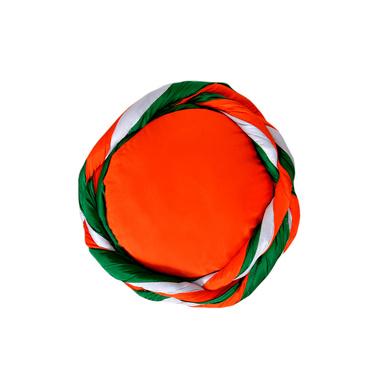 S H A H I T A J Traditional Rajasthani Faux Silk Tricolor or Tiranga barmeri or Vantma Pagdi Safa or Turban Multi-Colored for Kids and Adults (RT138)-18-3