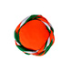 S H A H I T A J Traditional Rajasthani Faux Silk Tricolor or Tiranga barmeri or Vantma Pagdi Safa or Turban Multi-Colored for Kids and Adults (RT138)-18-3-sm
