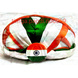S H A H I T A J Traditional Rajasthani Faux Silk Tricolor or Tiranga Jaipuri Gol Pagdi Safa or Turban Multi-Colored for Kids and Adults (RT143)-ST221_21andHalf-sm