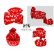 S H A H I T A J Traditional Rajasthani Cotton Red Bandhej Wedding Barati Udaipuri Pagdi Safa or Turban for Kids and Adults (RT151)-18-3-sm