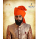 S H A H I T A J Traditional Rajasthani Wedding Barati Orange or Kesariya Cotton Jodhpuri & Rajputi Pagdi Safa or Turban for Kids and Adults (CT161)-ST241_22andHalf-sm
