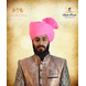 S H A H I T A J Traditional Rajasthani Cotton Wedding Barati Pink Jodhpuri & Rajputi Pagdi Safa or Turban for Kids and Adults (CT163)-ST243_18andHalf-sm
