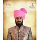 S H A H I T A J Traditional Rajasthani Cotton Wedding Barati Pink Jodhpuri & Rajputi Pagdi Safa or Turban for Kids and Adults (CT163)-ST243_22andHalf-sm