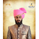 S H A H I T A J Traditional Rajasthani Cotton Wedding Barati Pink Jodhpuri & Rajputi Pagdi Safa or Turban with Pachewadi for Kids and Adults (CT164)-ST244_18andHalf-sm