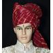 S H A H I T A J Traditional Rajasthani Wedding Barati Cotton Red Lehariya Pagdi Jodhpuri & Rajputi Safa or Turban for Kids and Adults (CT165)-ST245_22andHalf-sm