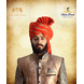 S H A H I T A J Traditional Rajasthani Wedding Barati Cotton Orange or Kesariya Lehariya Jodhpuri & Rajputi Pagdi Safa or Turban for Kids and Adults (CT166)-ST246_20andHalf-sm