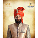 S H A H I T A J Traditional Rajasthani Wedding Barati Orange or Kesariya Lehariya Cotton Jodhpuri & Rajputi Pagdi Safa or Turban with Brooch for Kids and Adults (CT167)-ST247_20-sm