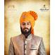 S H A H I T A J Traditional Rajasthani Wedding Barati Aamras Cotton Lehariya Jodhpuri & Rajputi Pagdi Safa or Turban with Brooch for Kids and Adults (CT173)-ST253_18andHalf-sm