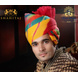 S H A H I T A J Traditional Rajasthani Wedding Barati Cotton Multi-Colored Jodhpuri & Rajputi Pagdi Safa or Turban for Kids and Adults (CT174)-ST254_18-sm