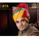 S H A H I T A J Traditional Rajasthani Wedding Barati Cotton Multi-Colored Jodhpuri & Rajputi Pagdi Safa or Turban for Kids and Adults (CT174)-ST254_18andHalf-sm