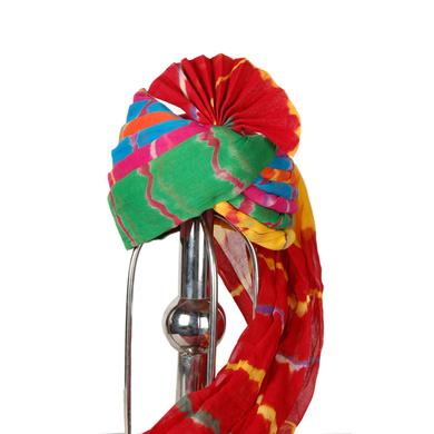 S H A H I T A J Traditional Rajasthani Wedding Barati Cotton Multi-Colored Jodhpuri & Rajputi Pagdi Safa or Turban for Kids and Adults (CT174)-18-3