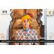 S H A H I T A J Traditional Rajasthani Wedding Barati Cotton Checkered Multi-Colored Jodhpuri & Rajputi Pagdi Safa or Turban for Kids and Adults (CT177)-ST257_22andHalf-sm