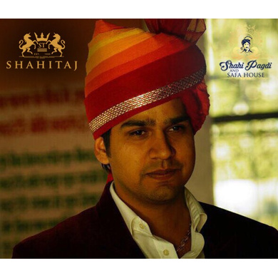 S H A H I T A J Traditional Rajasthani Wedding Barati  Multi-Colored Cotton Jodhpuri & Rajputi Pagdi Safa or Turban for Kids and Adults (CT181)-ST261_23andHalf