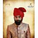 S H A H I T A J Traditional Rajasthani Wedding Barati Zari Staight Line Red Cotton Jodhpuri & Rajputi Pagdi Safa or Turban for Kids and Adults (CT186)-ST266_23andHalf-sm
