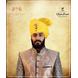S H A H I T A J Traditional Rajasthani Wedding Barati Zari Staight Line Yellow Cotton Jodhpuri & Rajputi Pagdi Safa or Turban for Kids and Adults (CT188)-ST268_18andHalf-sm