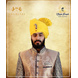 S H A H I T A J Traditional Rajasthani Wedding Barati Zari Staight Line Yellow Cotton Jodhpuri & Rajputi Pagdi Safa or Turban for Kids and Adults (CT188)-ST268_22andHalf-sm