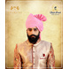 S H A H I T A J Traditional Rajasthani Wedding Barati Zari Staight Line Yellow Cotton Jodhpuri & Rajputi Pagdi Safa or Turban Multi-Colored for Kids and Adults (CT189)-ST269_22-sm